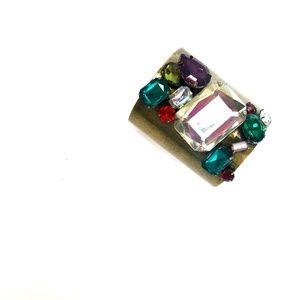 Jewelry - Multicolor Jeweled Metal Cuff Bracelet